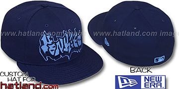 Yankees 'GRAFFITI' Navy-Columbia Fitted Hat by New Era