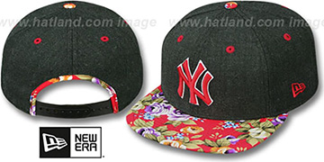Yankees 'HEATHER BLOOM SNAPBACK' Charcoal-Red Hat by New Era