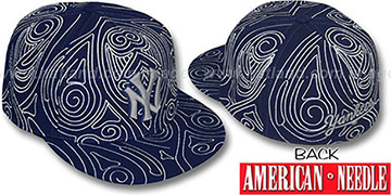 Yankees 'HENNA TATTOO' Navy-Grey Fitted Hat by American Needle