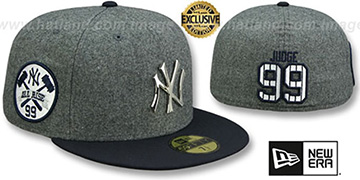 Yankees 'JUDGE ALL RISE SILVER METAL-BADGE' Grey-Navy  Fitted Hat by New Era