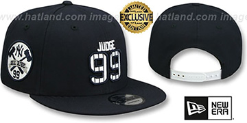 Yankees 'JUDGE PINSTRIPE ALL RISE SNAPBACK' Navy Hat by New Era