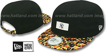 Yankees 'LEOPARD CAMPER STRAPBACK' Black Hat by New Era