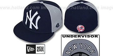 Yankees 'LETTERMAN' Navy-Grey Fitted Hat by New Era