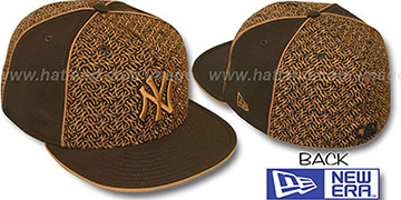 Yankees 'LOS-LOGOS' Brown-Wheat Fitted Hat by New Era