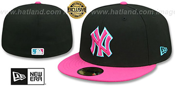 Yankees 'MIAMI VICE' Black-Beetroot Fitted Hat by New Era