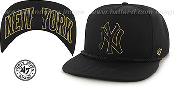 Yankees 'MINE-SHAFT STRAPBACK' Black Hat by Twins 47 Brand