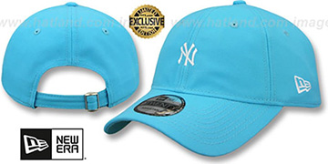 Yankees 'MINI BEACHIN STRAPBACK' Caribbean Blue Hat by New Era