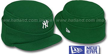 Yankees 'MINI-BRIM RILEY' Green Knit Hat by New Era