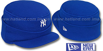 Yankees 'MINI-BRIM RILEY' Royal Knit Hat by New Era