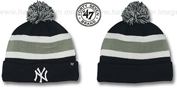 Yankees 'MLB BREAKAWAY' Navy Knit Beanie Hat by 47 Brand