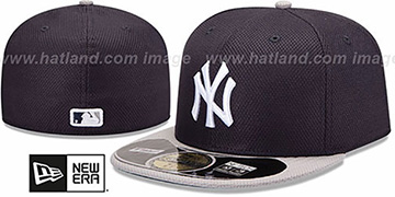Yankees 'MLB DIAMOND ERA' 59FIFTY Navy-Grey BP Hat by New Era
