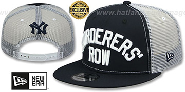 Yankees 'MURDERERS ROW MESH-BACK SNAPBACK' Navy-White Hat by New Era