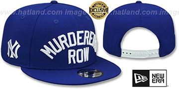 Yankees 'MURDERERS ROW' SNAPBACK Royal Hat by New Era