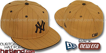 Yankees 'PINSTRIPE' Wheat-Brown Fitted Hat by New Era