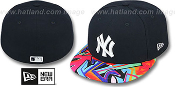 Yankees 'REAL GRAFFITI VIZA-PRINT' Navy Fitted Hat by New Era