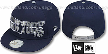 Yankees 'RETRO-BLOCK SNAPBACK' Navy Hat by New Era