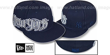 Yankees 'RIGHT HOOK' Navy Fitted Hat by New Era