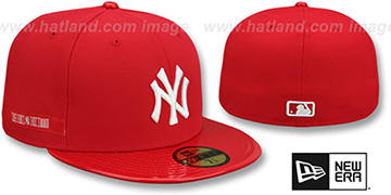 Yankees 'RETRO-HOOK' Red-White Fitted Hat by New Era