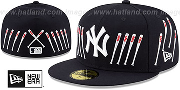 Yankees 'SPIKE LEE' TIPPED-BATS Navy Fitted Hat by New Era