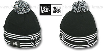 Yankees 'SPORT-KNIT' Black-Black Beanie Hat by New Era