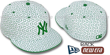 Yankees 'ST PATS FLOCKING' White Fitted Hat by New Era