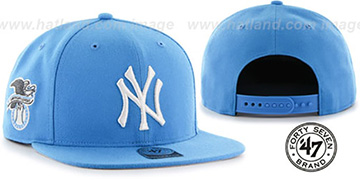 Yankees 'SURE-SHOT SNAPBACK' Sonic Blue Hat by Twins 47 Brand
