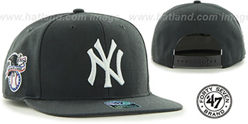 Yankees 'SURE-SHOT SNAPBACK' Charcoal Hat by Twins 47 Brand