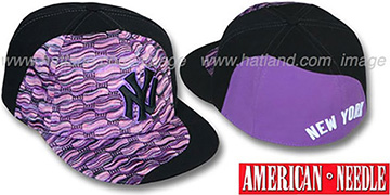 Yankees 'SWEATER SWIRL' Purple Hat by American Needle
