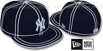 Yankees 'TACHS' Navy-White Fitted Hat by New Era