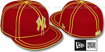 Yankees 'TACHS' Red-Gold Fitted Hat by New Era