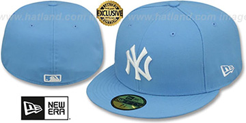 Yankees 'TEAM-BASIC' Sky-White Fitted Hat by New Era
