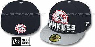 Yankees 'TECH MARK' Navy-Grey Fitted Hat by New Era