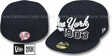 Yankees 'THE BEGINNING' Navy Fitted Hat by New Era