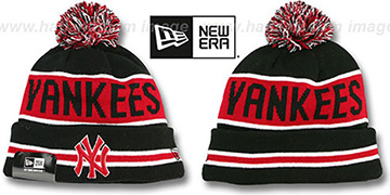 Yankees 'THE-COACH' Black-Red Knit Beanie Hat by New Era