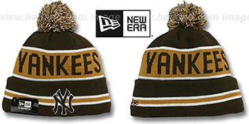 Yankees 'THE-COACH' Brown-Wheat Knit Beanie Hat by New Era