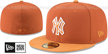 Yankees 'TONAL-CHOICE' Burnt Orange Fitted Hat by New Era