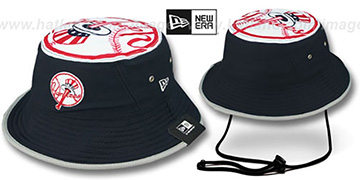 Yankees 'TOPPER TRAINING BUCKET' Navy Hat by New Era