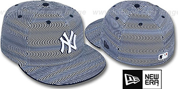 Yankees 'TRIPPIN' White-Navy Fitted Hat by New Era