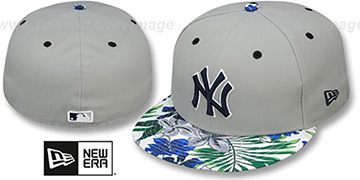 Yankees 'TROPTRIP BLOOM' Grey-Multi Fitted Hat by New Era