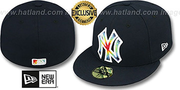 Yankees 'TYE-DYE INSIDER' Navy Fitted Hat by New Era