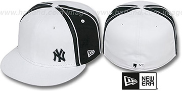 Yankees 'WILLIAM-III FLAWLESS' White-Black Fitted Hat by New Era